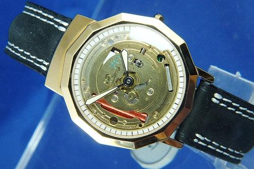 Diego Maradona Skeleton Dial Quartz Watch . New Old Stock , Circa 1980s . Italy