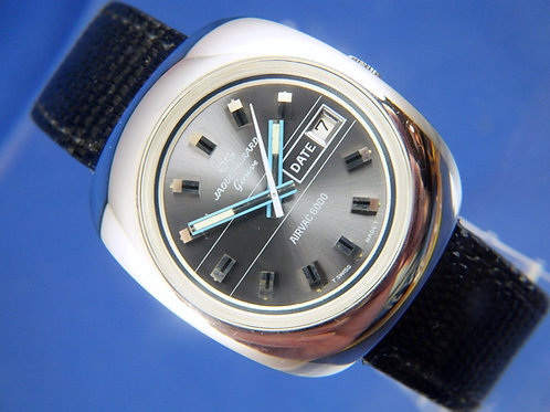 Jaquet Girard Airvac 6000 Automatic Watch . 1970s . Tissot Cal 2481 . NOS