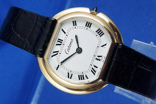 Catena Swiss Mechanical Dress Watch . New Old Stock , Circa 1970s