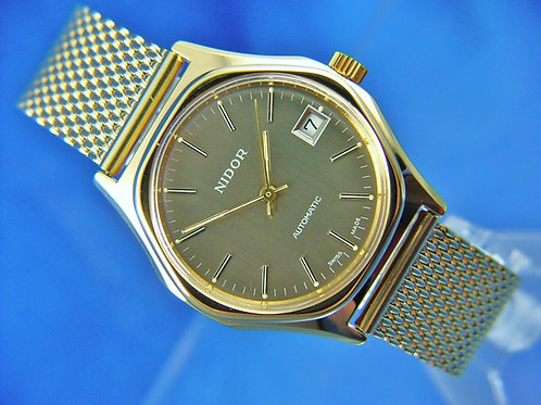 Nidor Automatic Watch , Circa 1970s , Swiss , New Old Stock