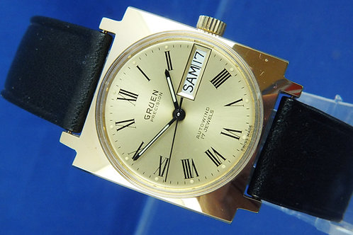 Gruen Swiss Automatic Watch . Circa 1970s . Cal AS 1906 . New Condition