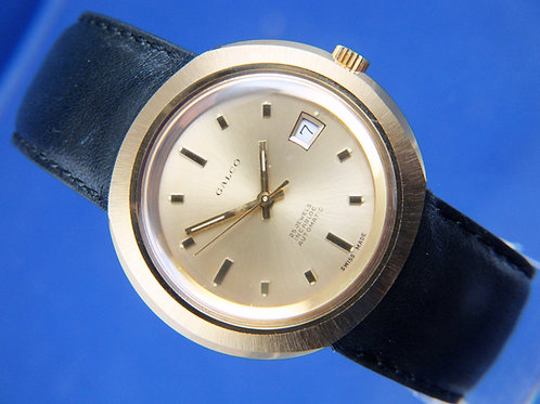 Galco Automatic Swiss Watch . Circa 1970S -NOS Never Worn . 25 jewel AS 2063