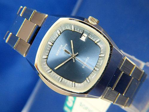 Sofior Grey Electronic Quartz Watch  . Circa 1970s . Swiss Tissot Cal 2030 RARE