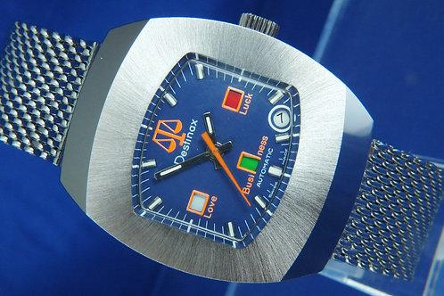 Destinax Astromatic Libra Star Sign Automatic Watch . Circa 1970s. Cal BF 158