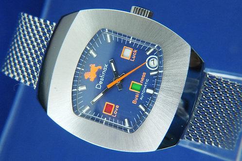 Destinax Astromatic Leo Star Sign Automatic Watch . Circa 1970s. Cal BF 158