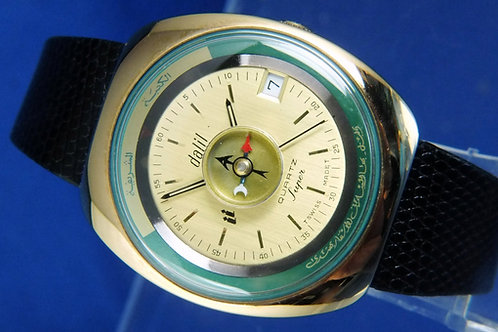 Dalil Muslim Quartz Watch . Circa 1990s , Swiss . New Old Stock . Cal ESA 960111