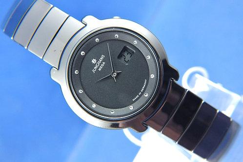 Junghans Stratos Quartz Ceramic Watch 013/1002 Diamond Dial . Radio Controlled