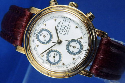 Luxor Automatic Chronograph Watch . Cal Valjoux 7750 . NOS 1980S NEW