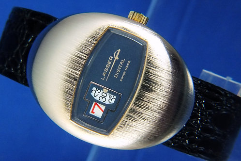 Lasser By Ravisa Jump Hour Digital Watch . Circa 1970s . Swiss made , ne