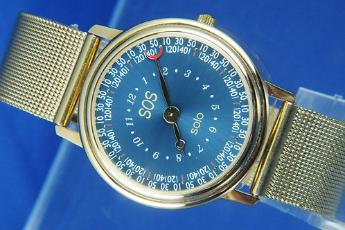 Zeno Solo SOS Quartz One Hand Watch . Mystery Dial . Swiss made , circa 1980s