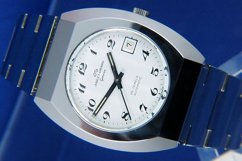 Jaquet Girard Automatic Watch . 1970s , Swiss . ETA 2783 . All Stainless