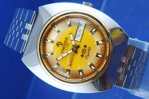 Tressa Lux Automatic Swiss Watch . Circa 1970s . NOS . Cal AS 5206