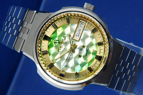 Tressa Lux Crystal Automatic Watch . Circa 1970s , New Old Stock . Cal AS 5206