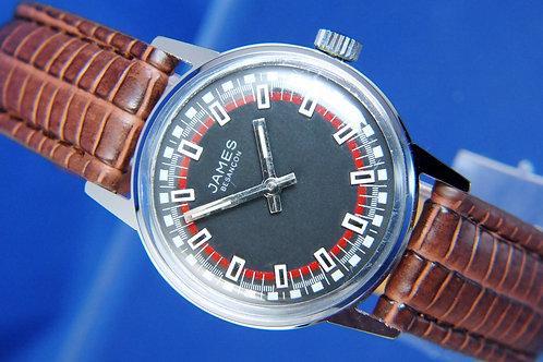 James Besancon Swiss Mechanical Watch . Circa 1970S . New Old Stock