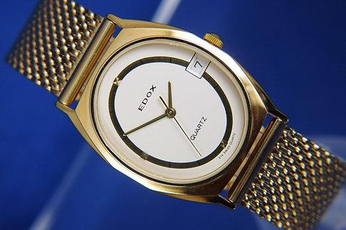 Edox Quartz Watch , Circa 1970s . Quality Swiss Dress Watch . Never Worn