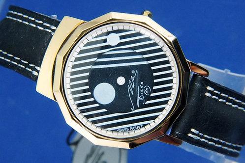 Diego Maradona Mystery Dial Quartz Watch . New Old Stock , Circa 1980s . Italy