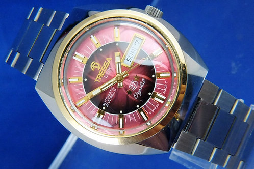 Tressa Lux Automatic Swiss Watch . Circa 1970s . NOS Cal AS 5206