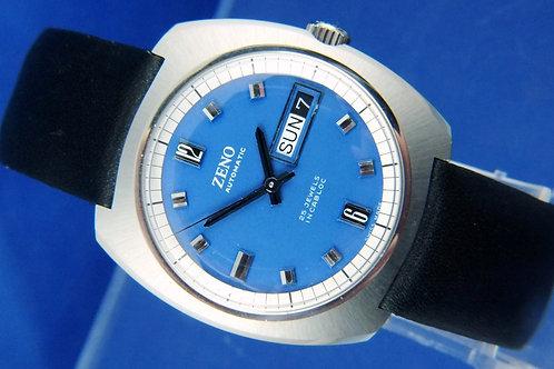 Zeno Compressor Automatic Watch . Circa 1970s . 25 Jewel Cal Bucherer ETA 2789