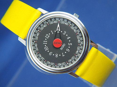 Zeno Solo SOS Quartz One Hand Watch . Mystery Dial . Swiss made , circa 1980s