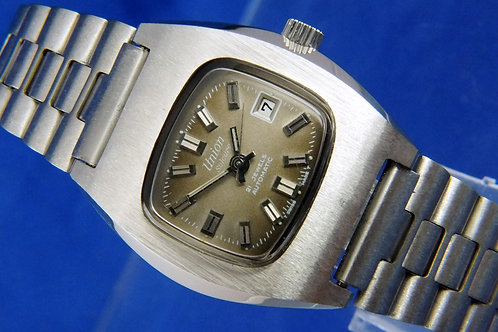 Union Soleure Automatic Watch . 21 jewel , New Old Stock , Circa 1970s