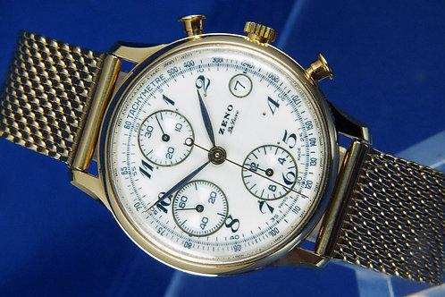 Zeno Automatic Chronograph Watch . Cal Valjoux 7750 . Never Worn - 1980S . NEW