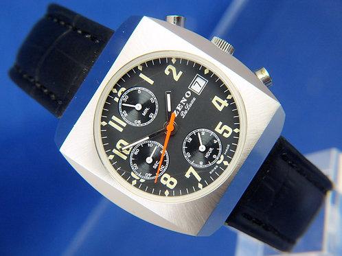 Zeno Automatic Chronograph Watch . Cal Valjoux 7750 . Never Worn , circa 1980s