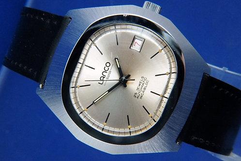 Lanco Automatic Watch . Circa 1970s , Swiss , New Old Stock . Caliber AS 2063