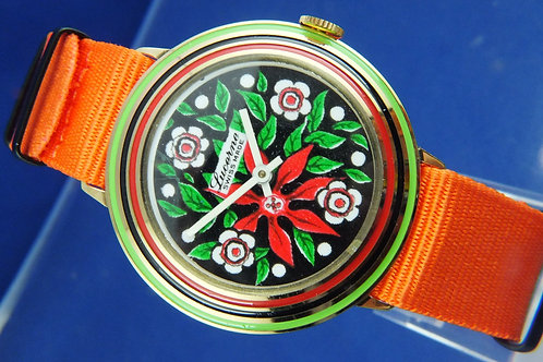 Lucerne Swiss Wind Up Watch . Circa 1970s . New Old Stock