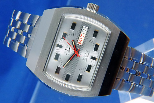 Sabina Automatic Mens 10ATM Skin Diver Watch .Circa 1970s-NOS .25 jewel ETA 2788
