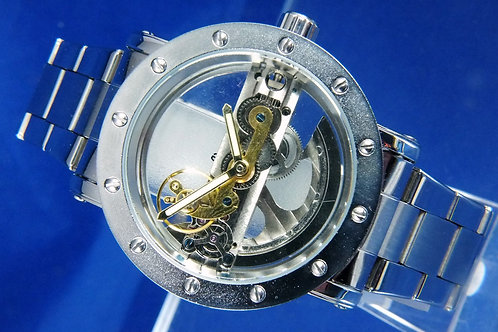 Skeleton Bridge Steampunk Automatic Mechanical Watch . Modern Chinese Watch .