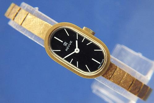 Revue Mechanical Ladies Bracelet Watch . NOS - Circa 1970s . Never Worn