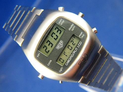 Heuer Chronosplit LCD Digital Watch . Caliber 102 , Circa 1970s . Lovely Used