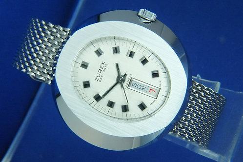 Zurex Swiss Wind Up Watch . New Old Stock , Circa 1970s . RL Ronda 1217-21