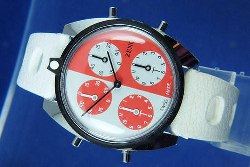 Zeno Tennis Watch . Swiss Mechanical Wind Up . NOS 1970s . Cal AS 1977-2