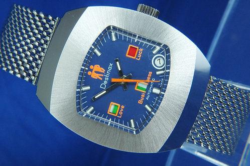 Destinax Astromatic Gemini Star Sign Automatic Watch . Circa 1970s. Cal BF 158