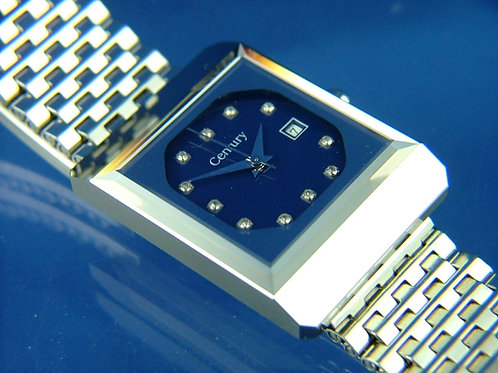Century Sapphire Quartz Watch . 1980s High Grade Swiss . New Old Stock