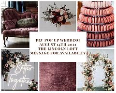 PLV POP UP WEDDING August 15 2020 Watert