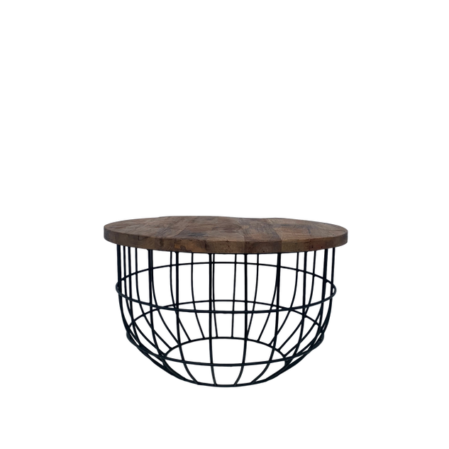 Round Industrial Basket Table