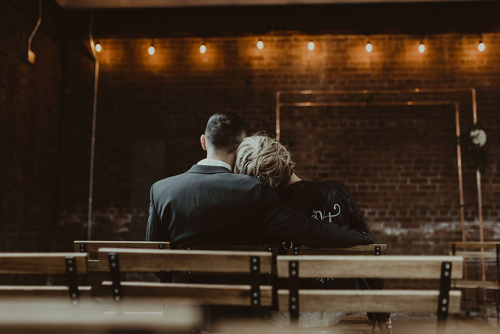 Industrial Wedding Ceremony Decor: Industrial & Copper Styled Wedding Shoot at Smith's Market featured on Pretty Little Vintage Co.