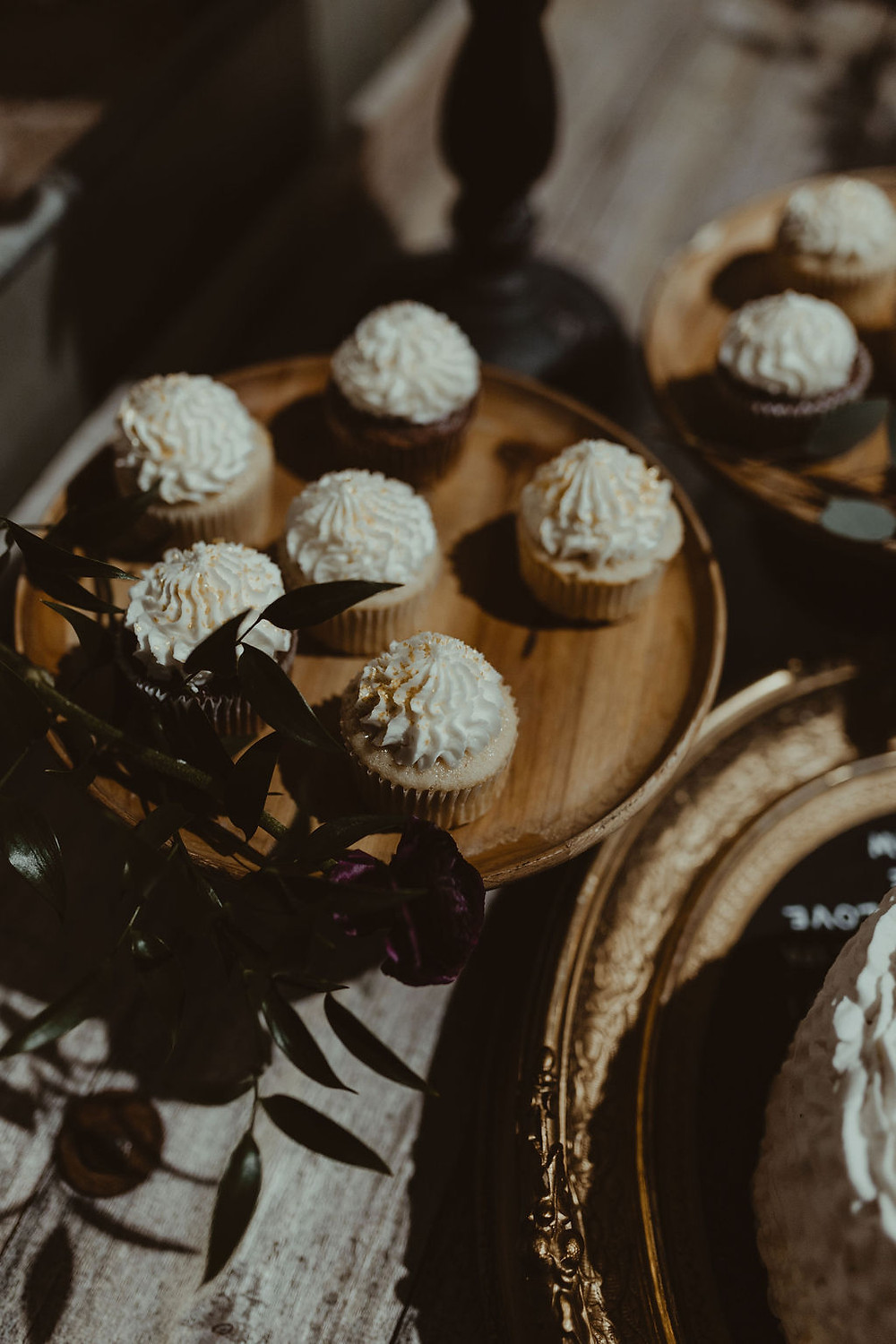 Dessert Stand Display: Industrial & Copper Styled Wedding Shoot at Smith's Market featured on Pretty Little Vintage Co.