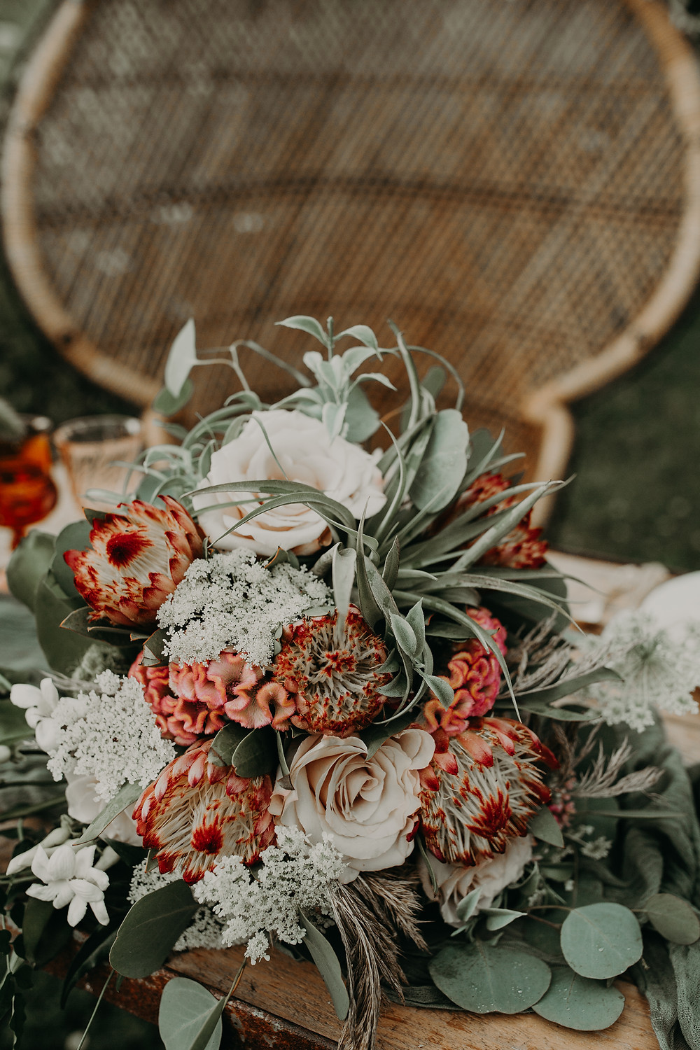 Wedding centerpieces: Boho TerraCotta Wedding Styled Shoot at Red Barn 20