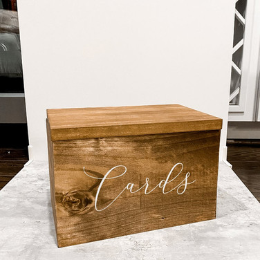Wooden Lettered Card Box