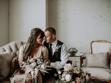 A Moody Jewel Toned Fall Wedding Styled Shoot at The Lincoln Loft in Watertown, NY