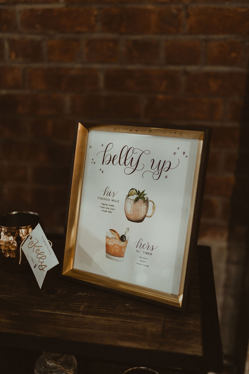 Wedding Drink Sign: Industrial & Copper Styled Wedding Shoot at Smith's Market featured on Pretty Little Vintage Co.