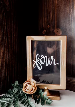 Gold Framed Table Numbers