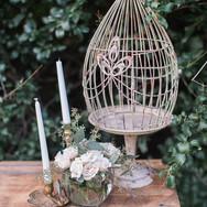 Pedestal Birdcage Card Box