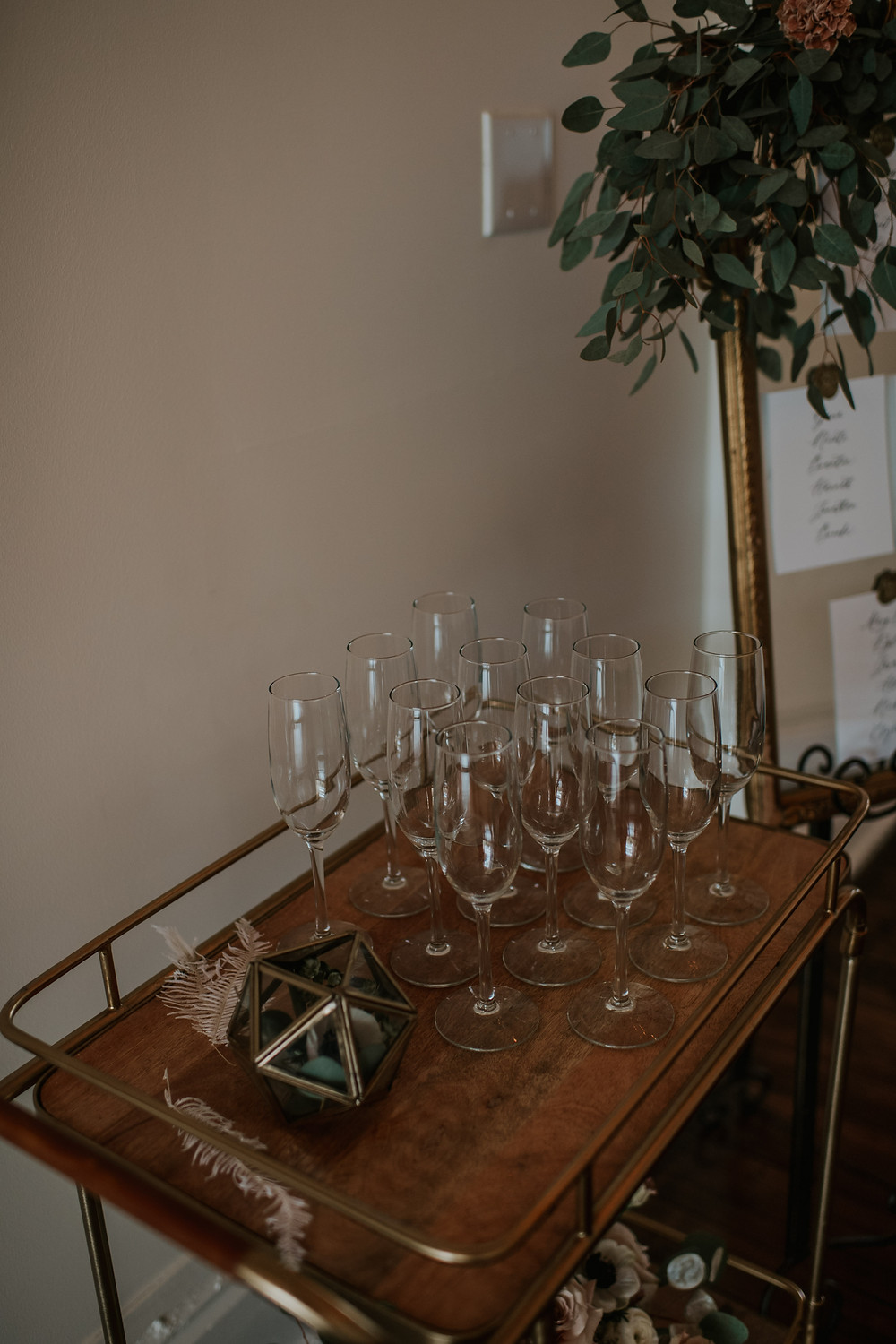 Wedding bar cart inspiration