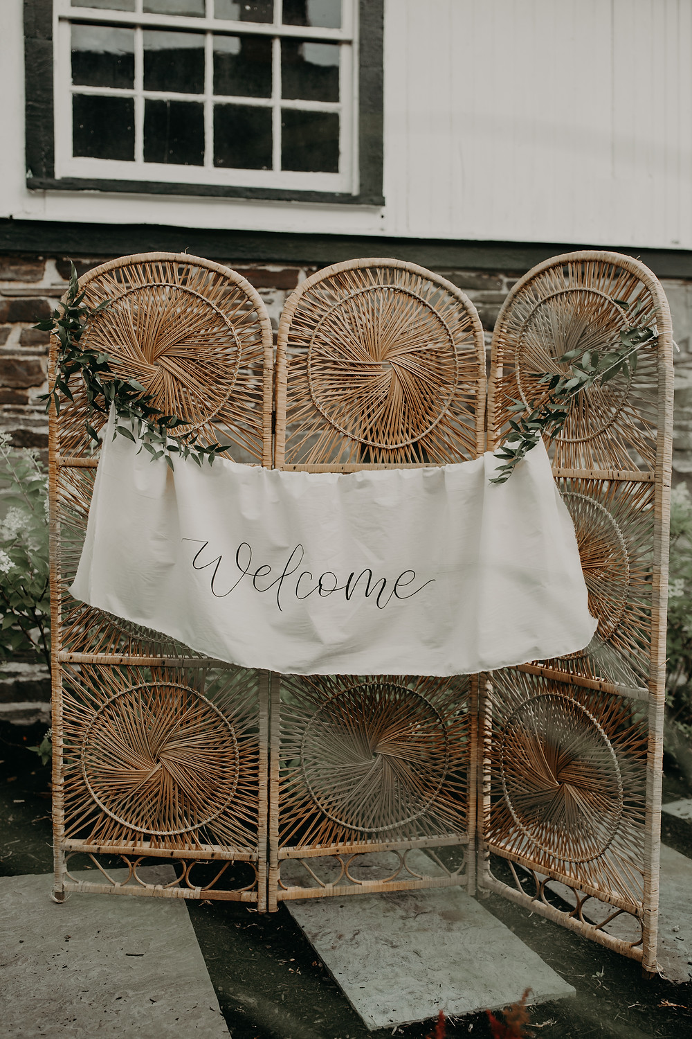 Boho wedding welcome sign inspiration: Boho TerraCotta Wedding Styled Shoot at Red Barn 20