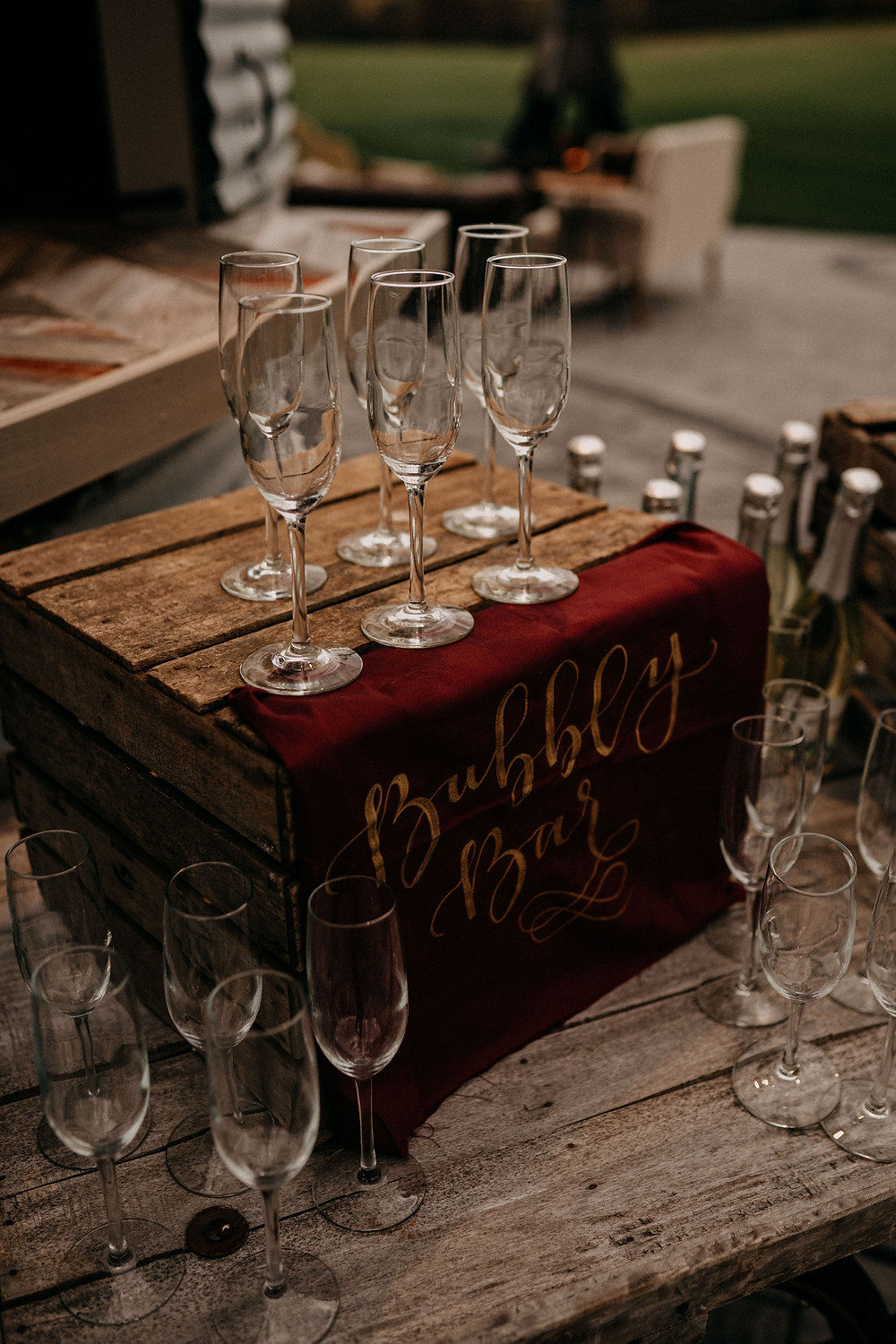 Bubbly Bar Inspiration: Warm & Rustic Styled Shoot at Hayloft in the Arch captured by Tracy Jade Photography featured on Pretty Little Vintage Co.