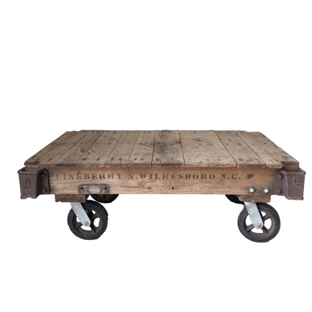 Industrial Train Cart Table